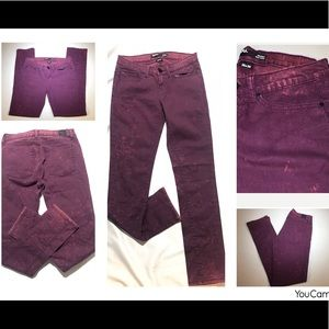 BDG Skinny Jeans 26X30 Acid Washed Distressed
